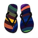 Colorful 3D Tunnel Flip Flops