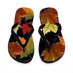 Colorful Fall Leaves Flip Flops
