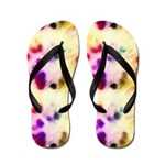 Colorful Stained Tissue Paper Flip Flops