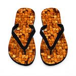 Copper Tiles Flip Flops