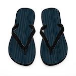 Dark Blue Woodgrain Flip Flops