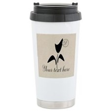 Add Text Monogram Cute Tulip Travel Mug Mugs