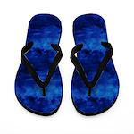 Deep Ocean Blue Waves Flip Flops