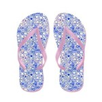 Digital Blue Bubbles on Pink Flip Flops