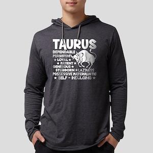 TAURUS TEES Mens Hooded Shirt