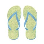 Faded Blue Micro Dots on Yellow Flip Flops