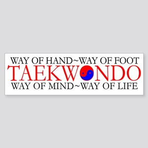 Tae Kwon Do Philosophy Sticker (Bumper)