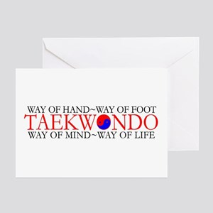 Tae Kwon Do Philosophy Greeting Cards (Pk of 10)
