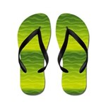 Green and Yellow Sand Dunes Abstract Flip Flops