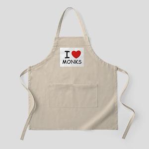 I love monks BBQ Apron