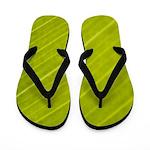 Green Variegated Hawaiian Leaf 3 Flip Flops