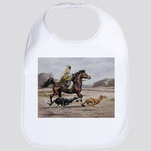 Bedouin Riding with Saluki Hounds Bib