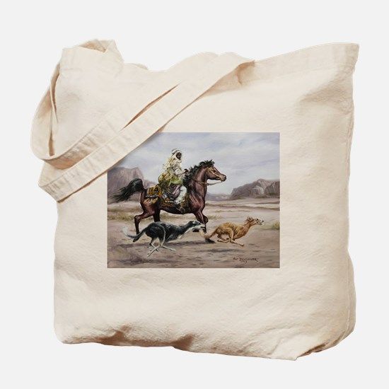 Bedouin Riding with Saluki Hounds Tote Bag