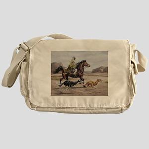 Bedouin Riding with Saluki Hounds Messenger Bag
