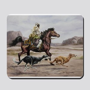 Bedouin Riding with Saluki Hounds Mousepad