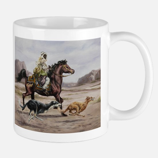 Bedouin Riding with Saluki Hounds Mug