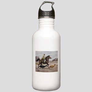 Bedouin Riding with Saluki Hounds Water Bottle