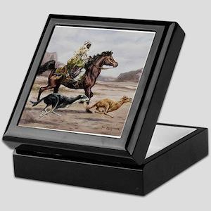 Bedouin Riding with Saluki Hounds Keepsake Box