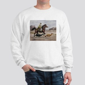 Bedouin Riding with Saluki Hounds Sweatshirt