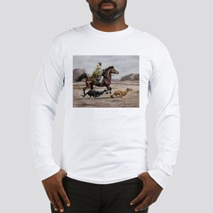 Bedouin Riding with Saluki Hounds Long Sleeve T-Sh