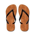 Grunge Yellow and Red Scallops Flip Flops