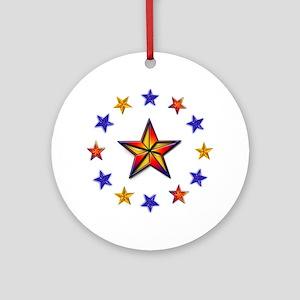 Stars in the Round Ornament (Round)