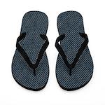 Grungy Blue Stripes Flip Flops