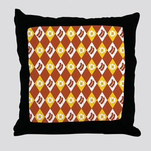Bacon and Eggs Argyle Pattern Throw Pillow