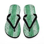 Grungy Fat Green Stripes Flip Flops