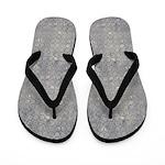 Grungy Gray Blue Circles Flip Flops