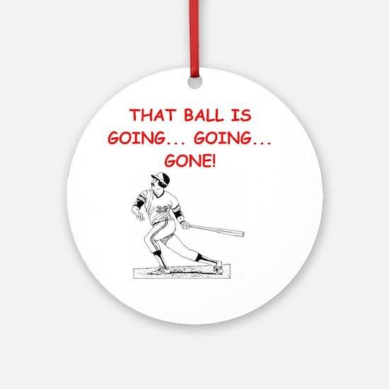Baseball1 (round) Round Ornament