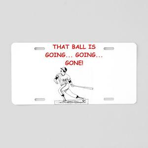 BASEBALL1 Aluminum License Plate