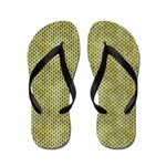 Grungy Green Scallops Flip Flops