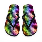 Grungy Rainbow Texture Flip Flops