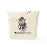 Hipsterpotamus Tote Bag