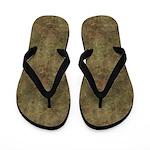 Hard Brown Stone Flip Flops