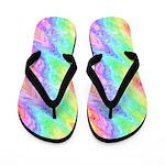 Jagged Rainbow Flip Flops
