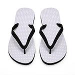 Light Blue Circle Pattern Flip Flops