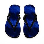 Light Blue Sound Waves on Dark Flip Flops