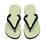Light Blue Targets on Yellow Flip Flops