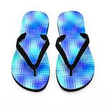 Light Blue Textured Glass Flip Flops