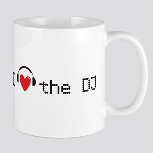 I love the DJ with headphones and heart design Mug