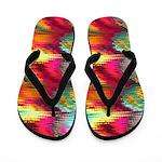 Liquid Rainbow Squares Flip Flops