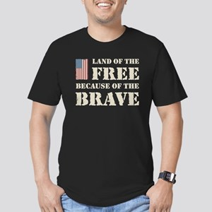 Land of the Free Men's Fitted T-Shirt (dark)