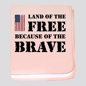 Land of the Free baby blanket
