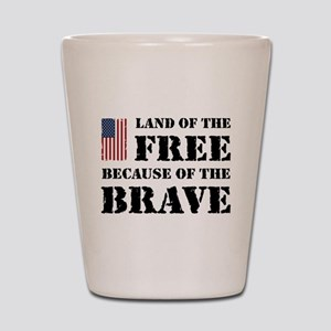 Land of the Free Shot Glass