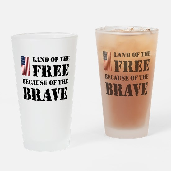 Land of the Free Drinking Glass