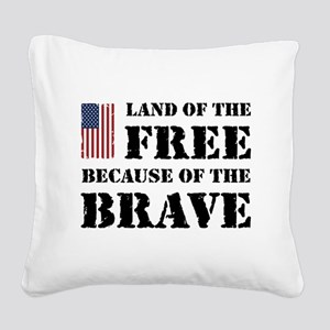 Land of the Free Square Canvas Pillow