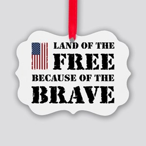 Land of the Free Picture Ornament