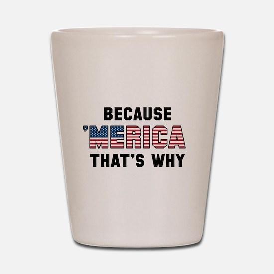 Because 'Merica Shot Glass